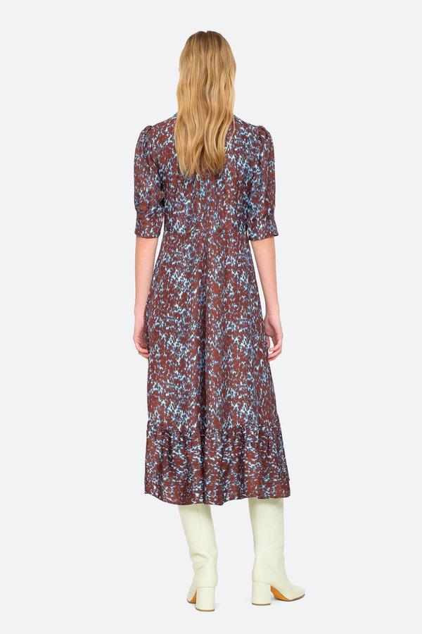 Sea NY Celine Puff Sleeve Dress - Sienna