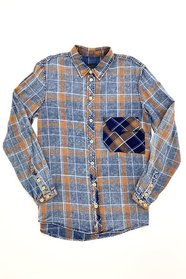 FRIED RICE LOOSE FIT SHIRT - BLUE