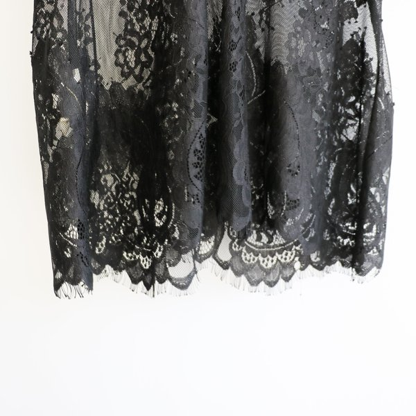 [Pre-Loved] Flannel Lace Blouse - Black