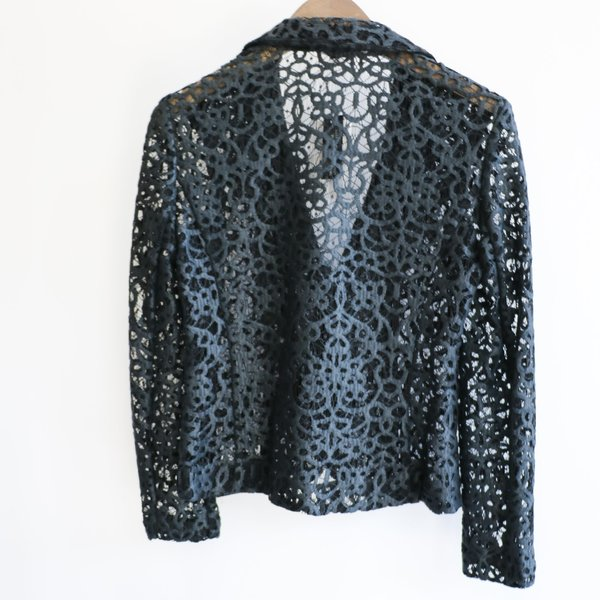 [Pre-Loved] Judith & Charles Lace Blazer - Black