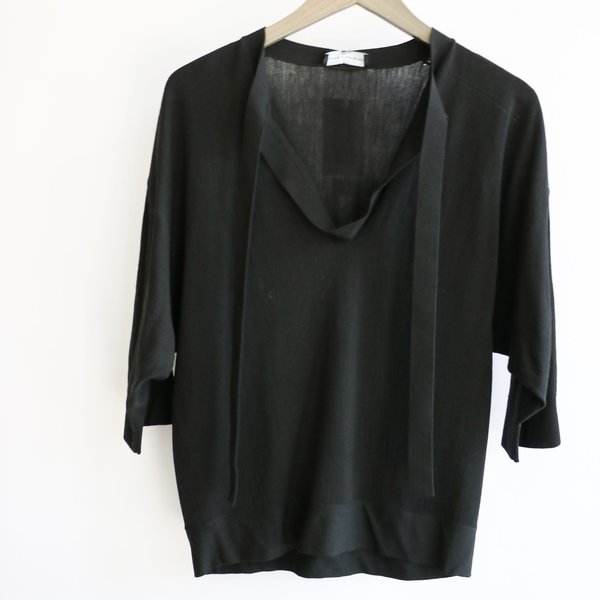 [Pre-Loved] Narciso Rodriguez Tab Collar Knit - Black