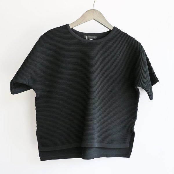[Pre-Loved] Saks Fifth Ave. Ribbed Shirt - Black