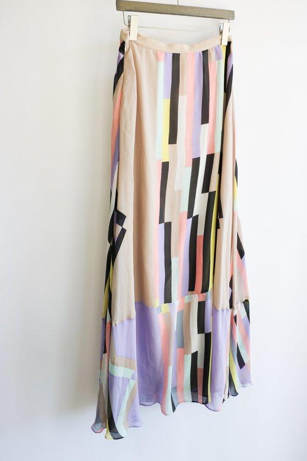 [Pre-Loved] Tibi Pastel Maxi Skirt - Pastel
