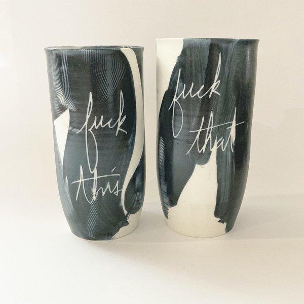 Ceramics and Theory Ceramic Tumbler - Fuck This