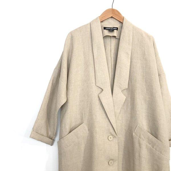 Valérie Dumaine Hayden Linen Jacket - Natural