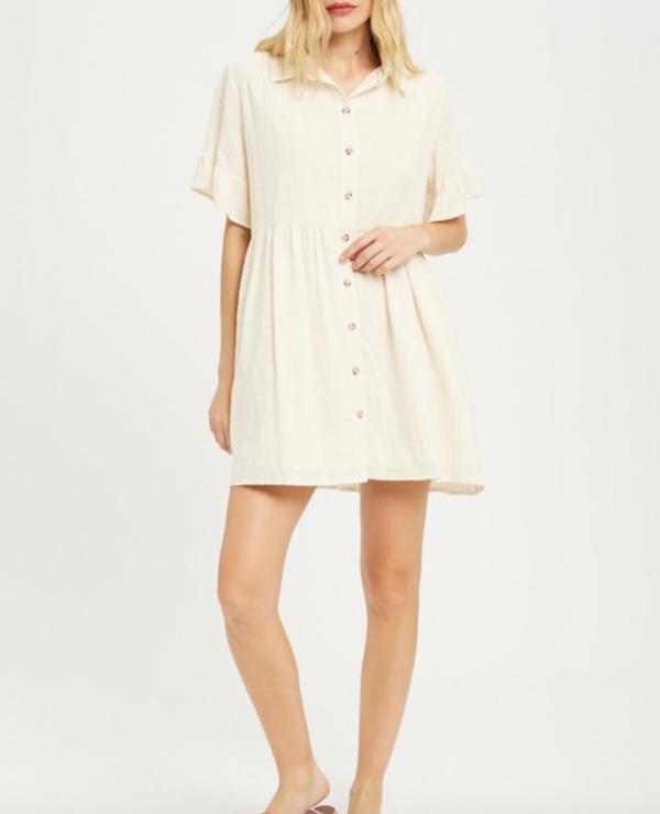 Wishlist Ruffle Sleeve Dress