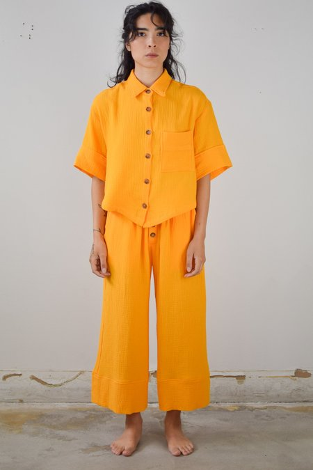 Back Beat Co. Organic Cotton Pajama Bottom - Saffron