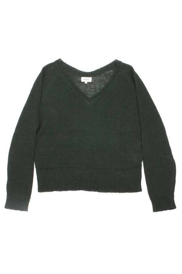 Diega Prazo Crew Knit - Forest Green
