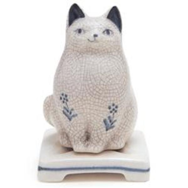 Nippon Kodo Ceramic Cat Incense Burner