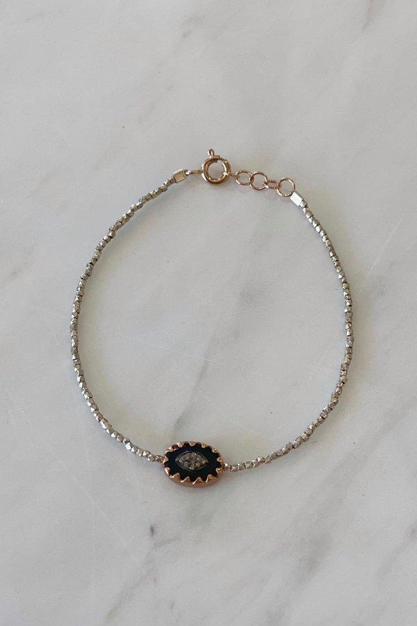 Pascale Monvoisin Montauk Black Bracelet - Silver