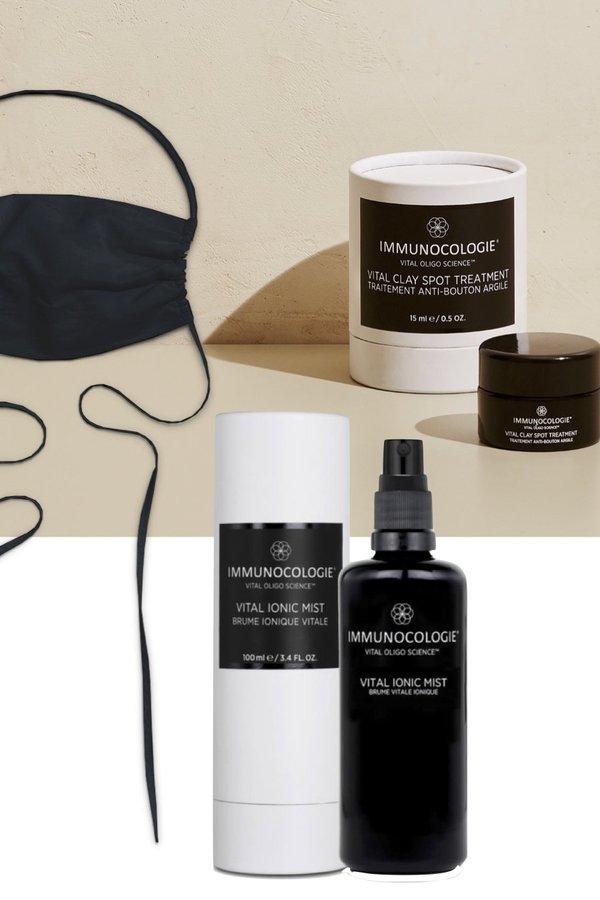 Immunocologie Maskne Protection Package + GIFT Black Cotton Face Mask