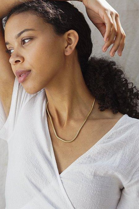 Baleen Minnow Necklace - Gold