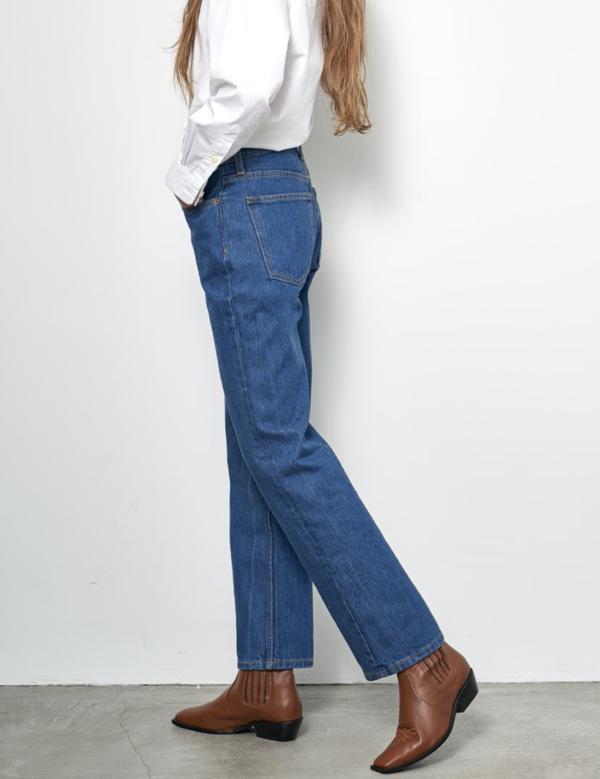 B Sides Arts Mid Straight Jeans - Nancy