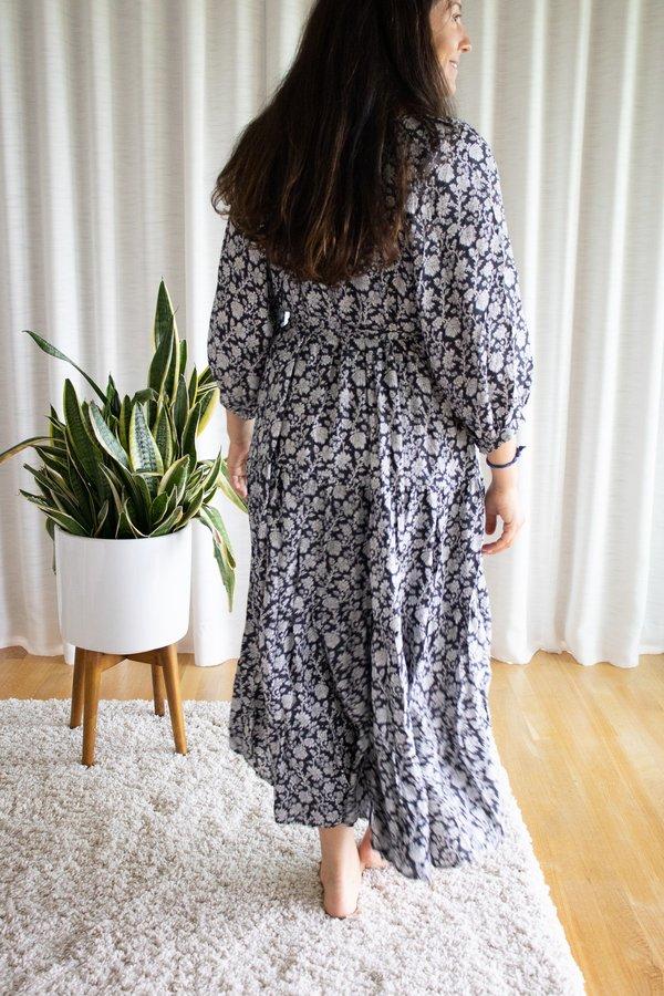 Voloshin Willow Raglan Peasant Dress - Midnight Prairie