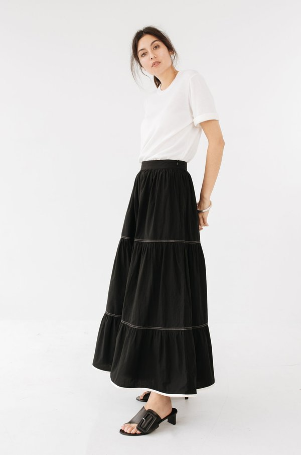 BEFORE MARCH Dusty skirt - Black