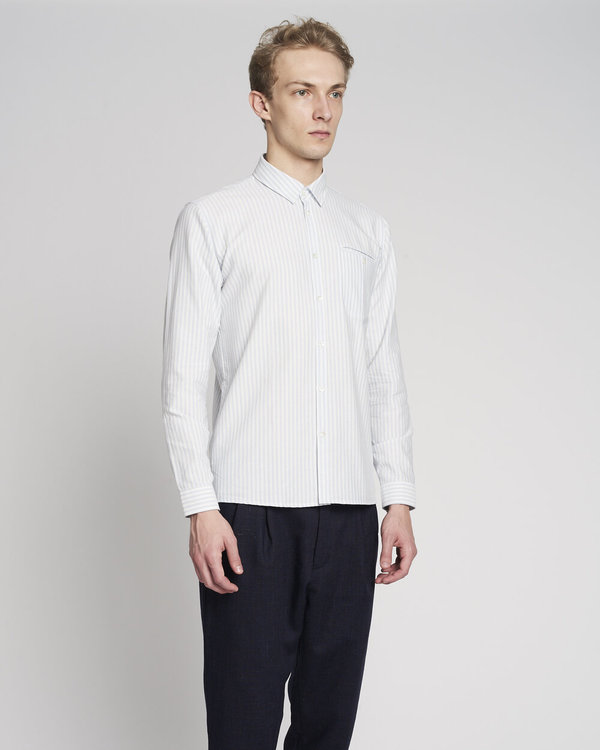 Delikatessen Vintage Stripe Proper Shirt - White