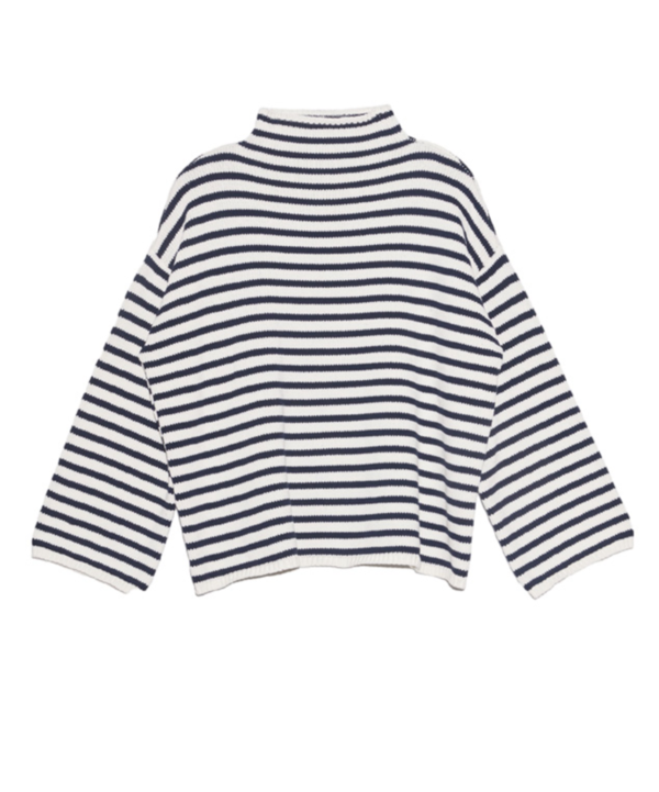 Demy Lee Agata Stripe Sweater - White/Navy