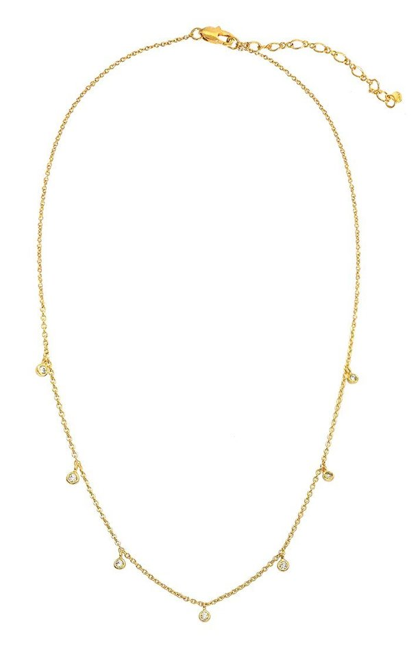 Tai Cz Charm Necklace - Gold