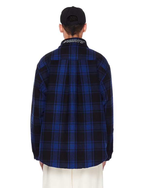 Vetements Wool Checked Logo Shirt