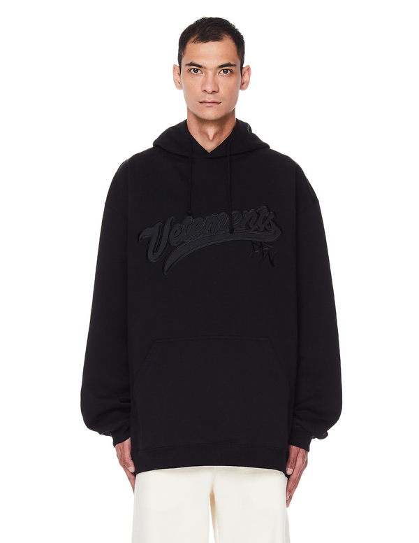 Vetements Logo Embroidered Hoodie