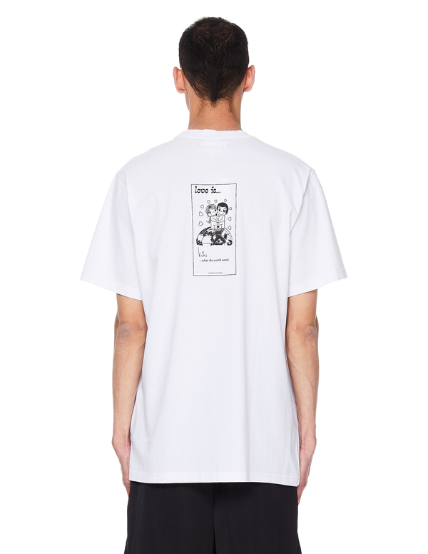 Vetements Love Is Cotton T-Shirt - White