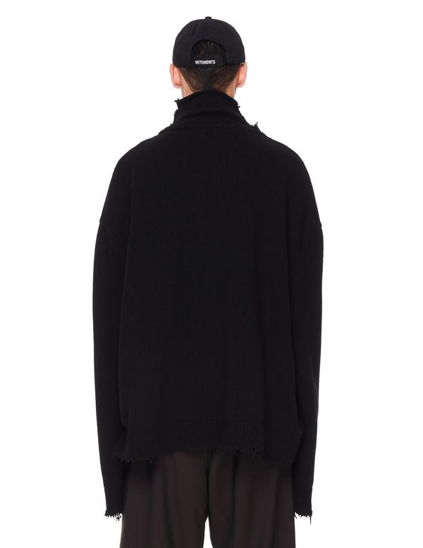 Vetements Wool Logo Sweater - Black