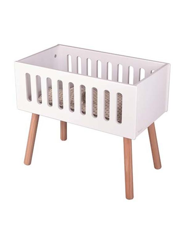 Kids Minikane Wooden Doll Crib - White