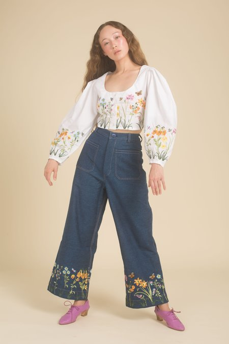Samantha Pleet Flower Patch Jeans