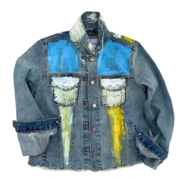Kerri Rosenthal Hand Painted Denim Jacket