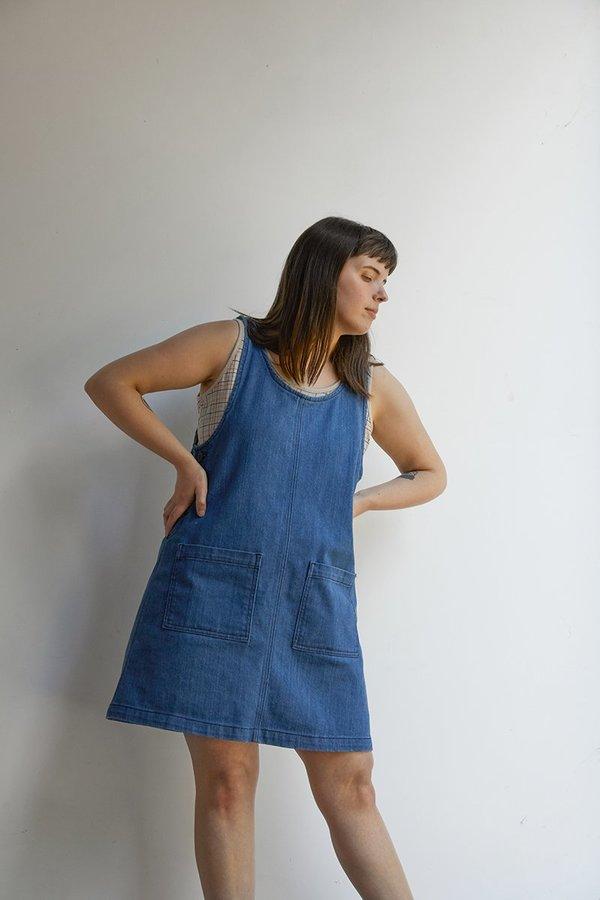 North Of West Caroline Jumper Dress - Denim