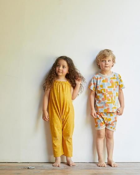 Kids North Of West Dots Organic Jumpsuit - Golden