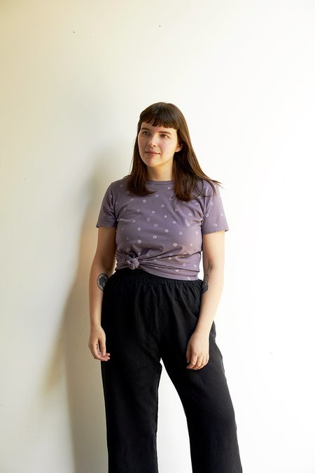 North Of West Taylor Tee - Moonscape Dots Print