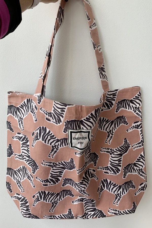 Emerson Fry Tote Bag - Zebra Muted Clay