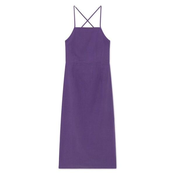 Paloma Wool Carlota Dress - Dark Mauve