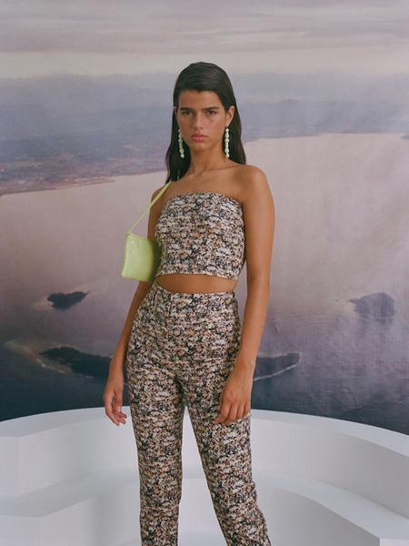 Paloma Wool Mucho Strapless Tube - People Print