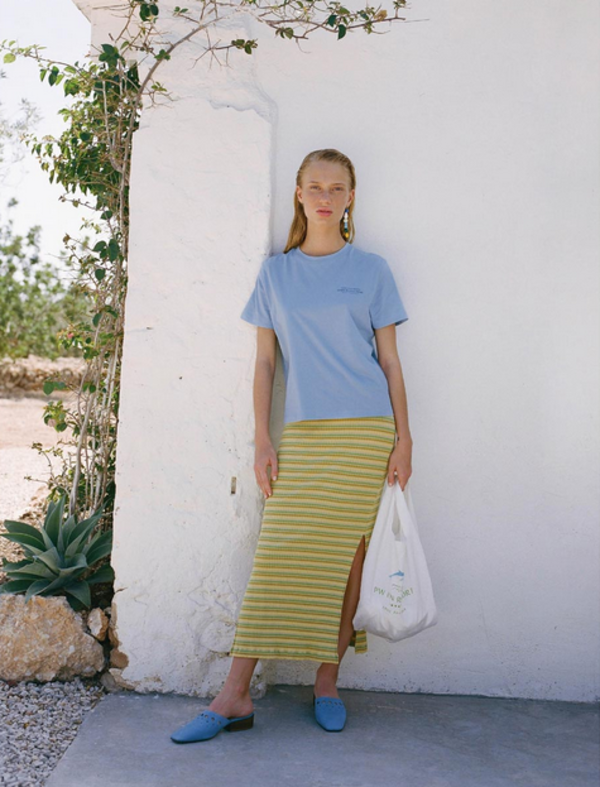 Paloma Wool Landia Skirt - Pastel Yellow Stripes