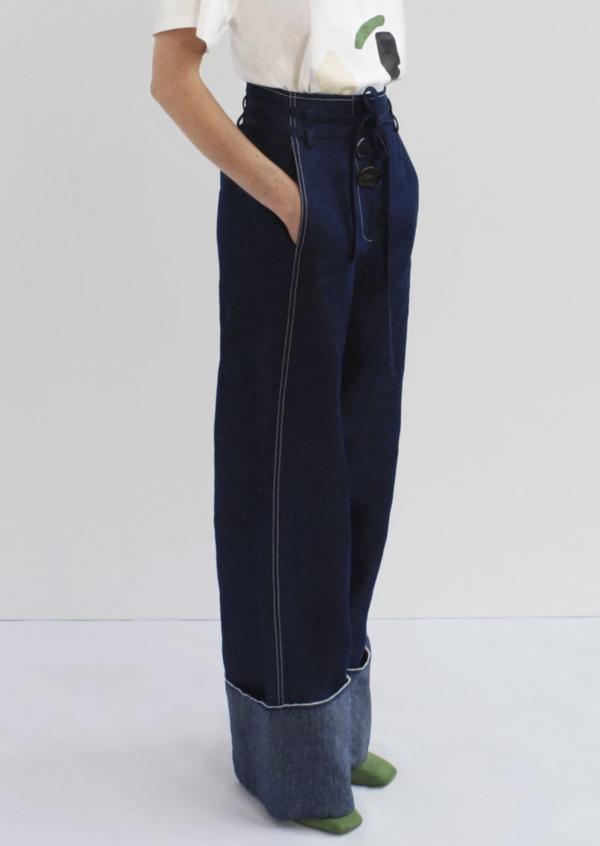 Rejina Pyo Peyton Trousers - Dark Blue