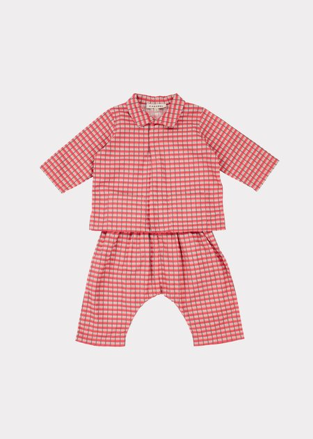Kids Caramel Hyde Park Baby Set - Red Painted Check
