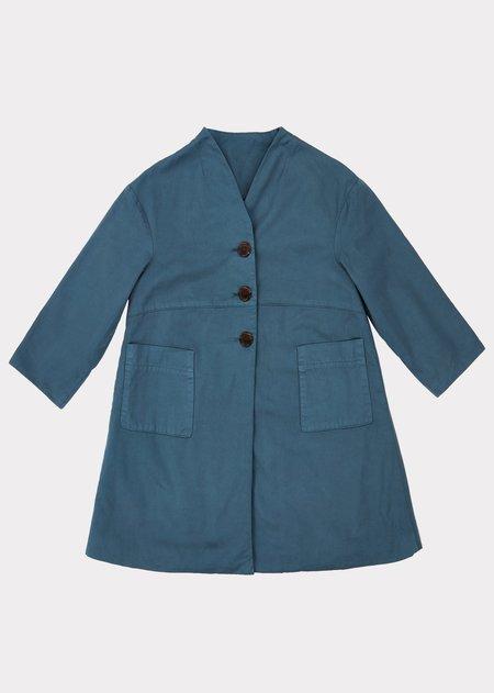 Kids Caramel Kensington Coat - Coronet Blue