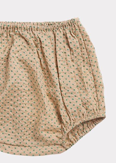 Kids Caramel Richmond Bloomer - Green Polka Dot