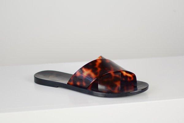 Melissa Essential Slide - Black/Tortoise