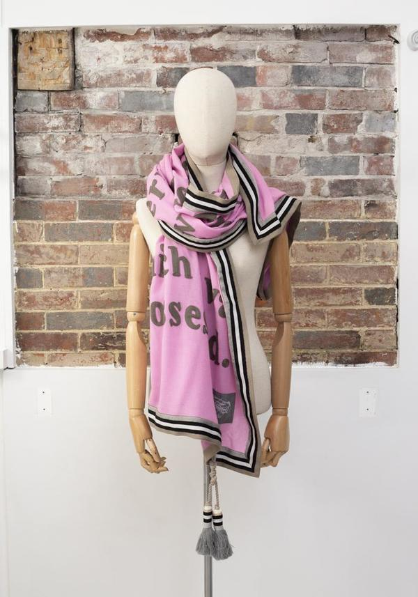 Karien Belle Everything That Is New Embroidered Poetry Scarf