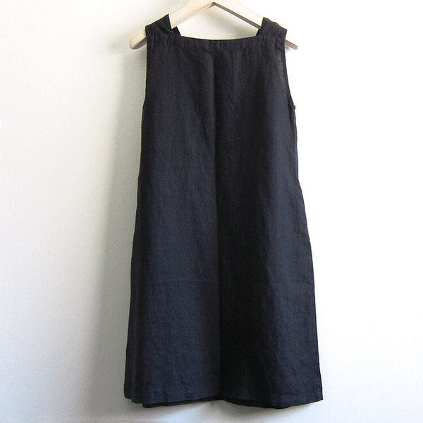 Flax Designs Square Neck Dress - Black