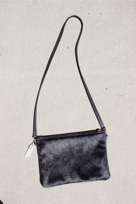 Primecut Pouch Purse - Black Cowhide