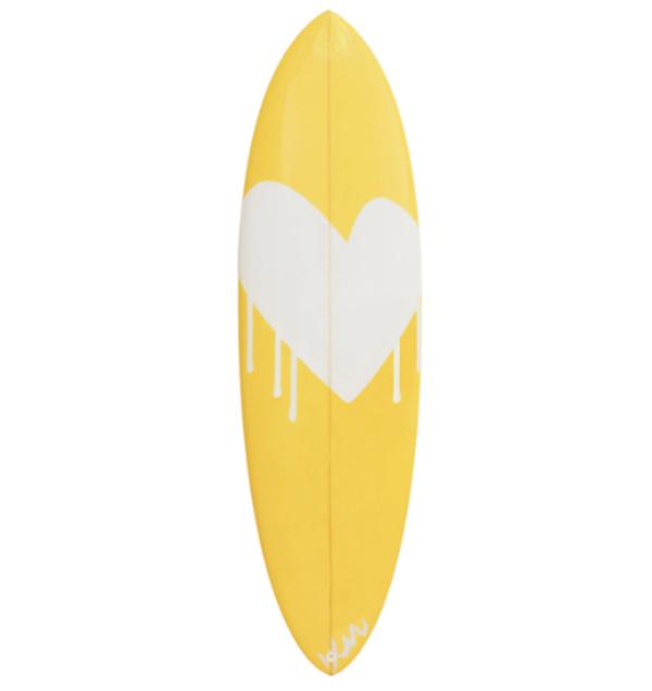 Kerri Rosenthal Drippy Heart Paperless Surfboard