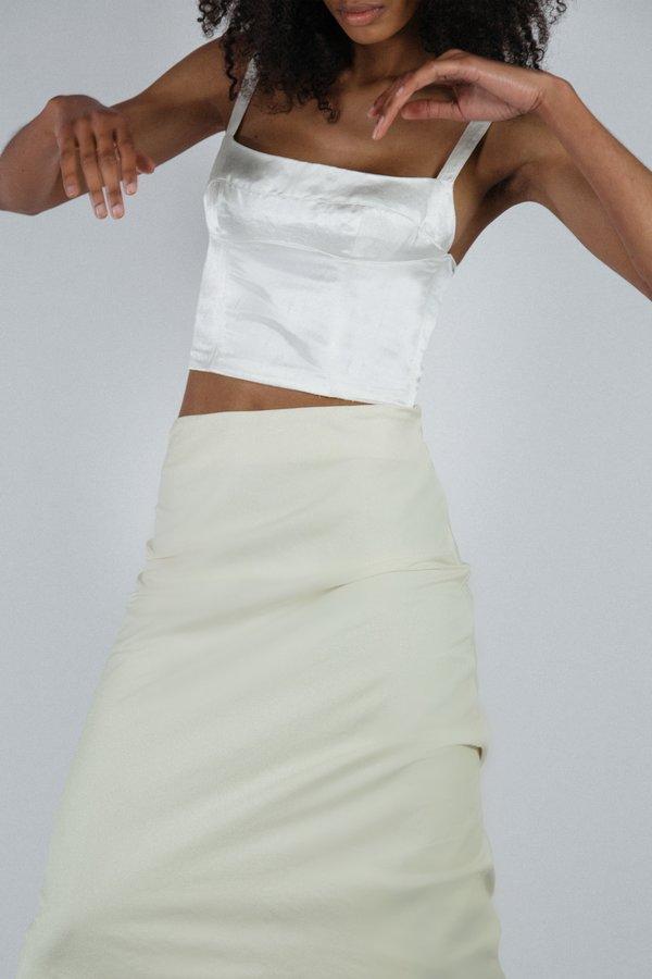 Angie Bauer Cassie Top - Ivory Silk