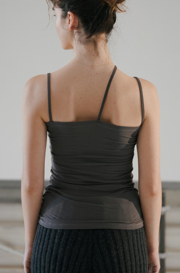 Baserange Nida Cotton Rib Tank - Lomita Black