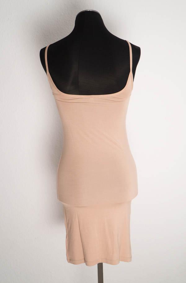 Baserange Bamboo Jersey Slip Dress - Nude