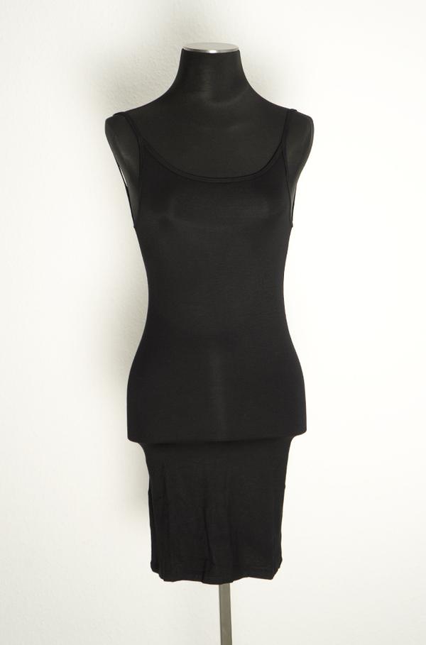 Baserange Slip Dress in Bamboo Jersey - Black