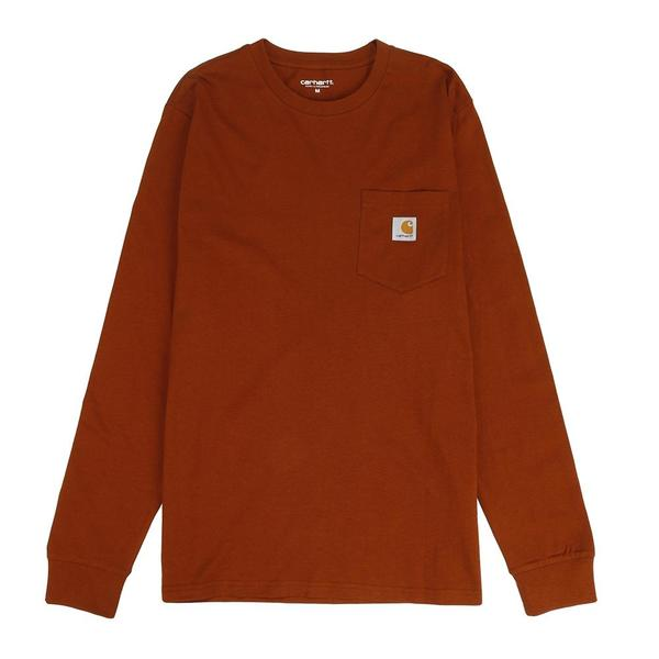 Carhartt WIP Long Sleeve Pocket T-shirt - Brandy